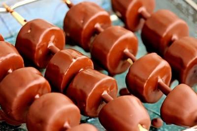 Fruit Kebab with Chocolate