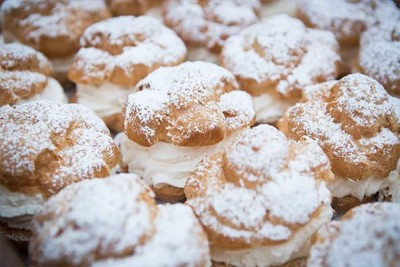 Tray of Original Cream Puffs