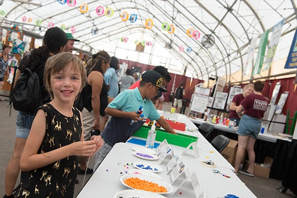 Kids Making Crafts in the Youth Expo Hall