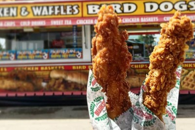 Frosted Flakes Chicken On-a-Stick