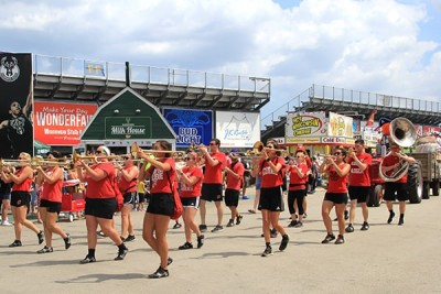 Marching Band Perfoming in the Parade at Wisconsin State Fair