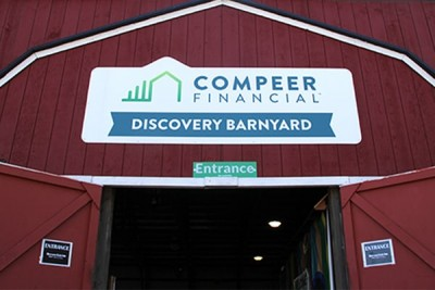 Entrance to the Compeer Financial Discovery Barnyard