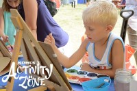 Kids Painting at Kohl's Activity Zone