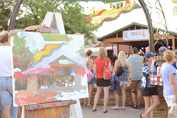 Artwork in Progress During Plein Air at the Fair