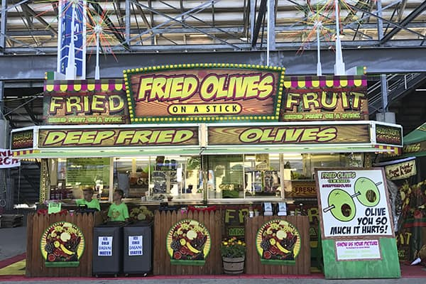 Fried Fruit & Fried Olves at Wisconsin State Fair