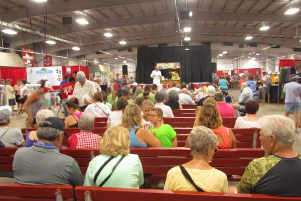 Crowd Watching Stage in Wisconsin Products Pavilion