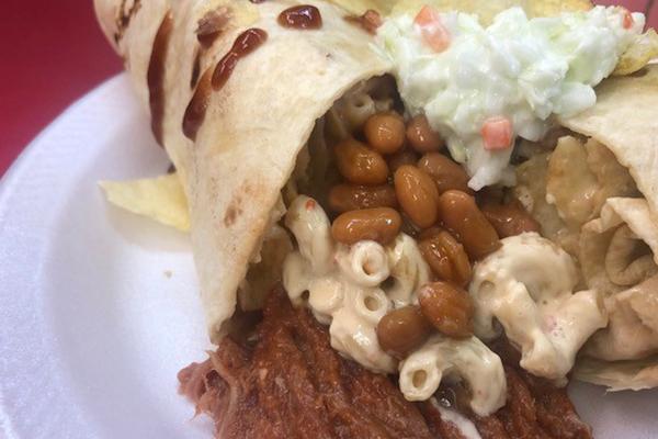Backyard BBQ Burrito