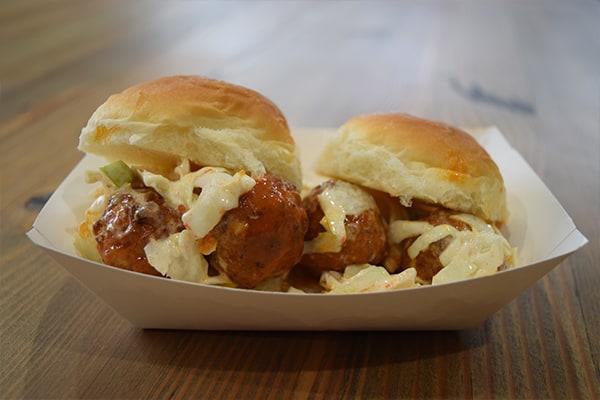 Buffalo Chicken & Bleu Cheese Meatball Sliders