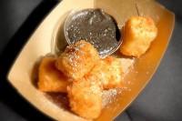 Deep-Fried Milk with Cookie Dip
