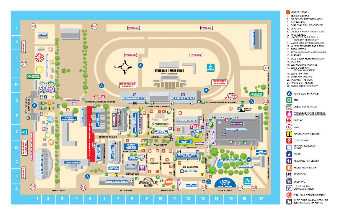 2019 State Fair Map – Wisconsin State Fair
