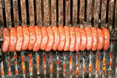 Italian Sausage Being Grilled