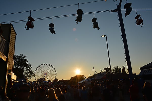 Dusk on a Beautiful Day at the Wisconsin State Fair