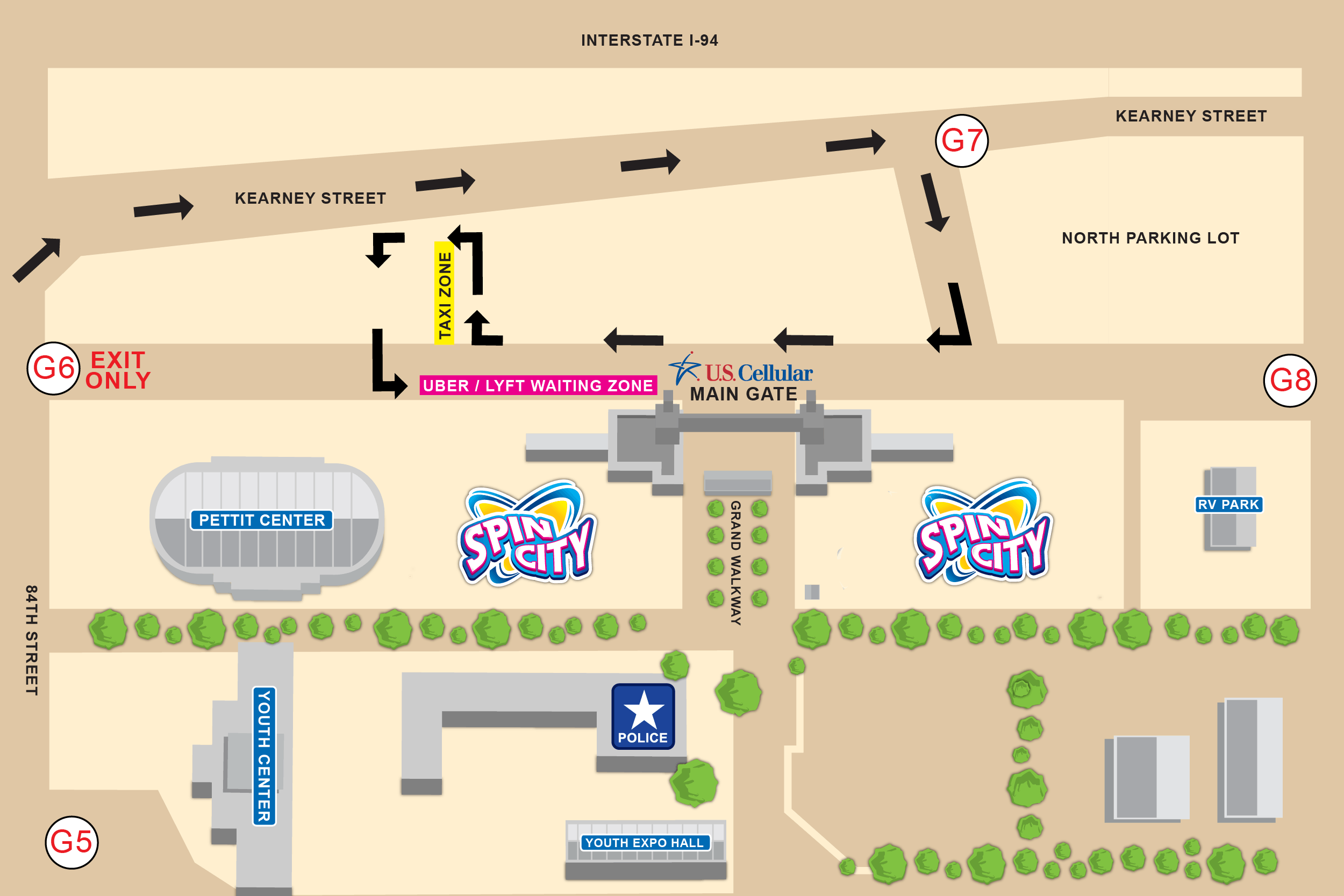 Map of Ride Share Area