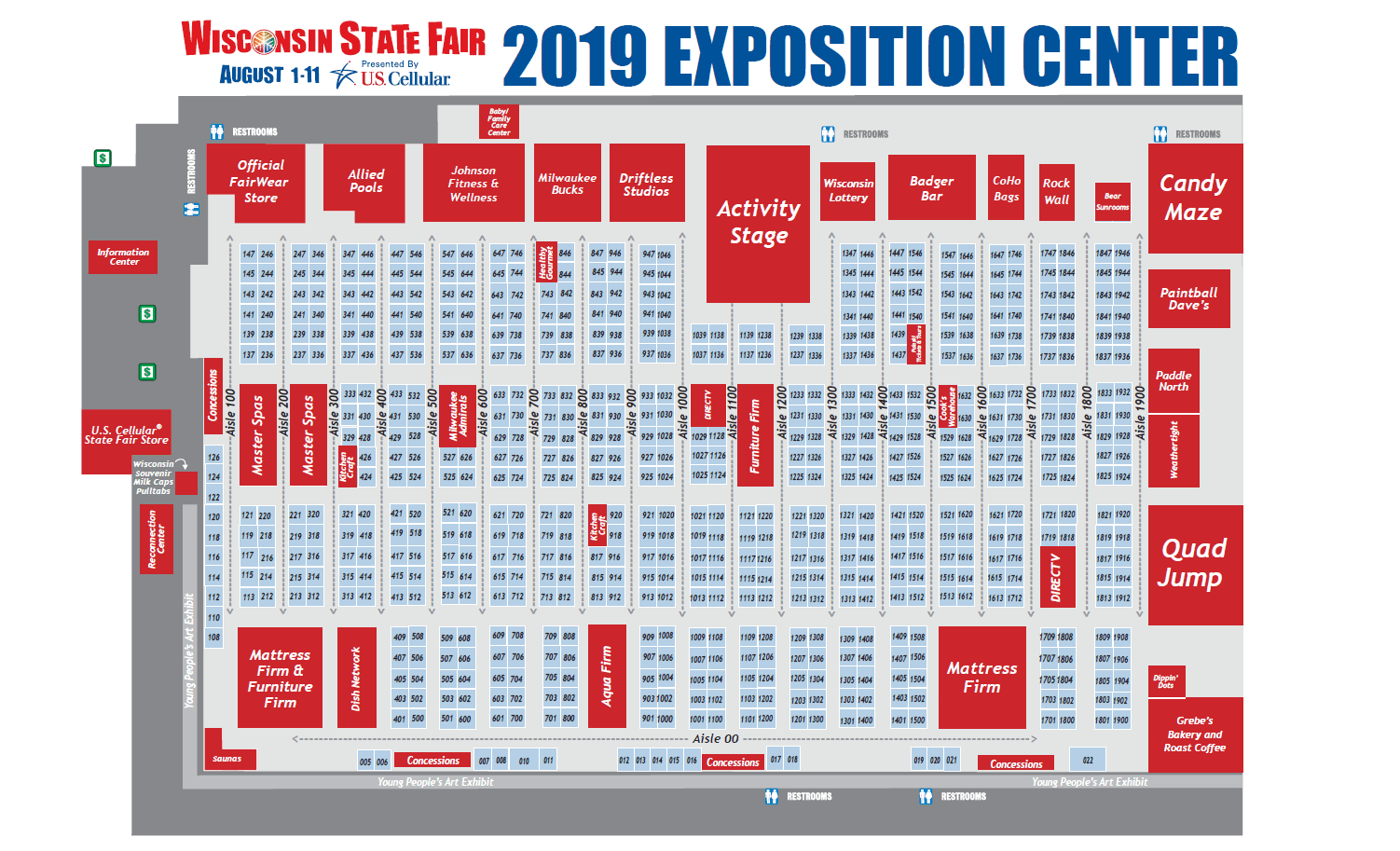 State Fair Shopping Map for the Exposition Center