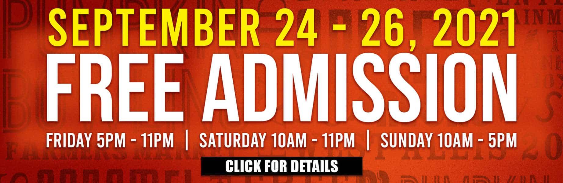 Harvest Fair September 24-26, 2021