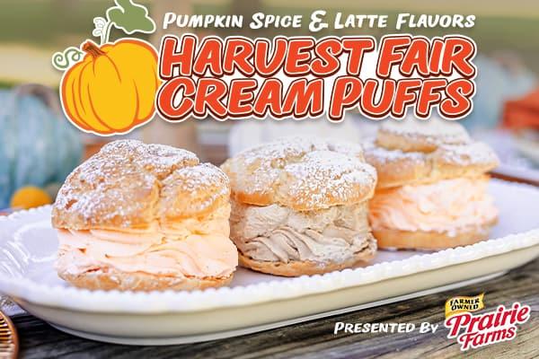 Pumpkin Spice and Latte Cream Puffs